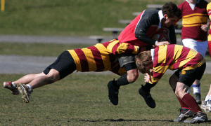 Big rugby collision