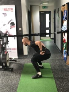 hurdle lunge step 2