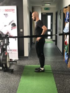 hurdle lunge step 1