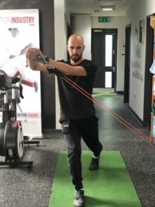 lunge with rotations step 2