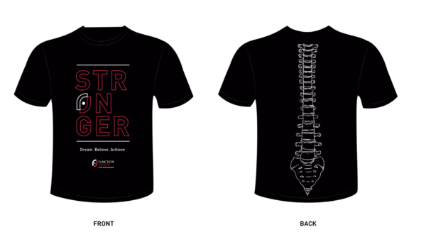 Black t shirt front and back